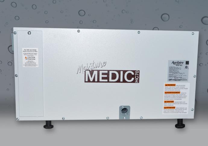 Moisture Medic Dehumidifier Side View